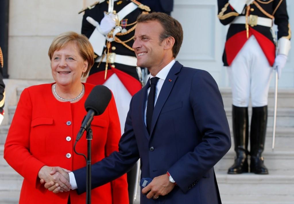그림 6. 메르켈 독일 총리와 마크롱 프랑스 대통령