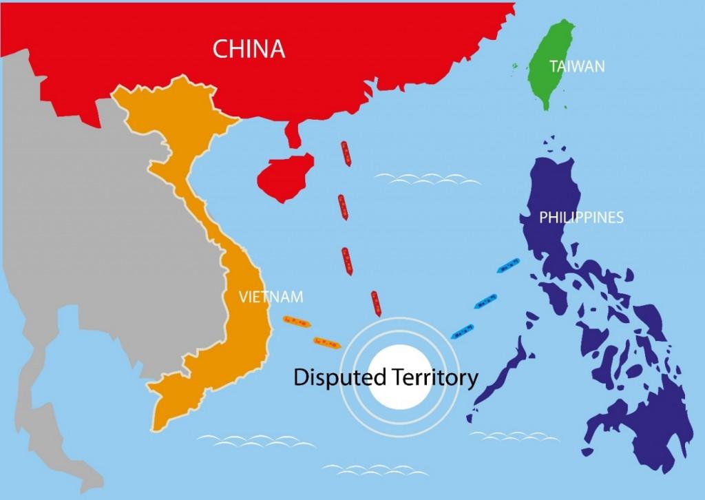 그림3. 남중국해 영토분쟁 지역