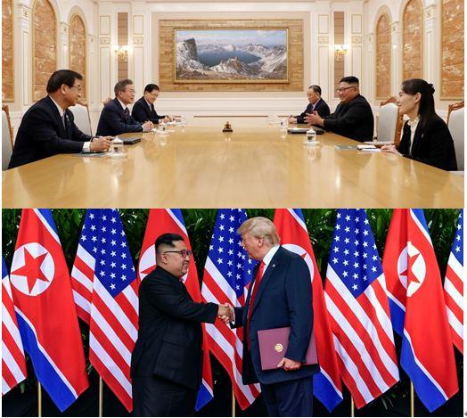 그림4. 남북 정상회담과 북미 정상회담